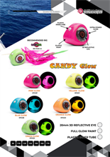 LOLLIPOP SICARIO TAI RUBBER CANDY GLOW TAI RUBBER SERIES-HEAD ONLY HEAD ONLY FISHING