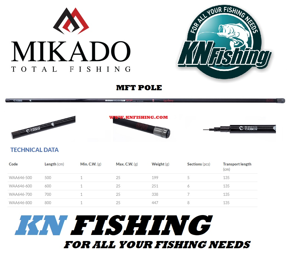 MIKADO MFT POLE JAPAN FLOAT FISHING ROD (5.00m - 8.00m)