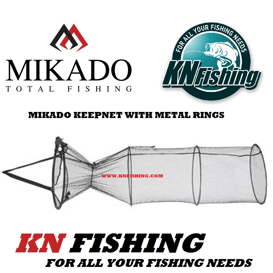 MIKADO CARP KEEP NET MATCH FEEDER FISHING SIZES 80cm 100cm 120cm 150cm 200cm 250cm