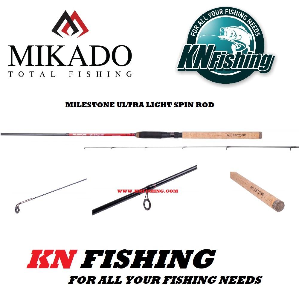 MIKADO MILESTONE ULTRA LIGHT LRF SPINNING ROD (2.30m - 2.70m) 1-9g