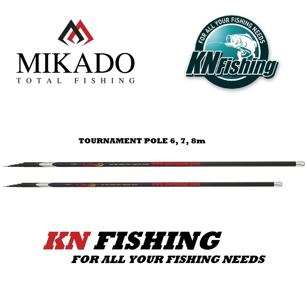 MIKADO TOURNAMENT POLE FLOAT JAPAN FISHING ROD 6.00m 7.00m 8.00m