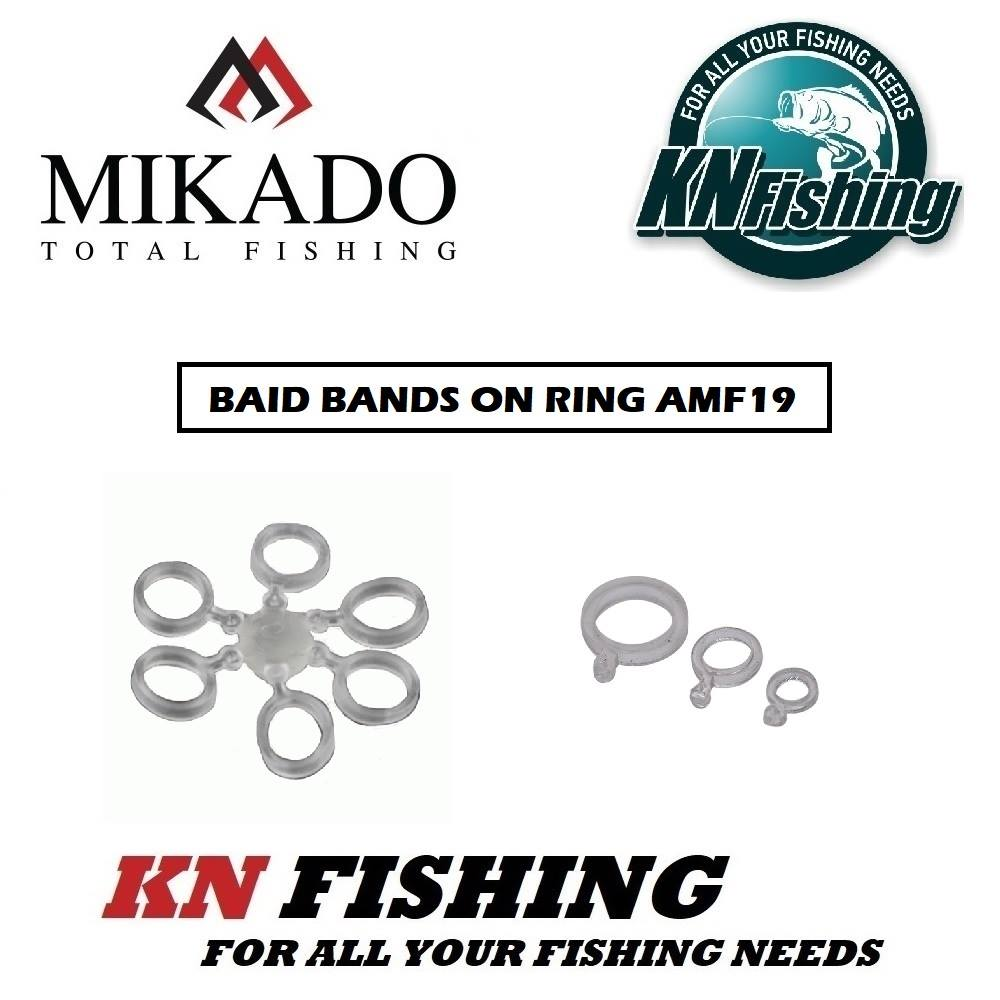 MIKADO BAIT BANDS ON RING METHOD FEEDER OR TAI RUBBER 4mm - 24 pcs