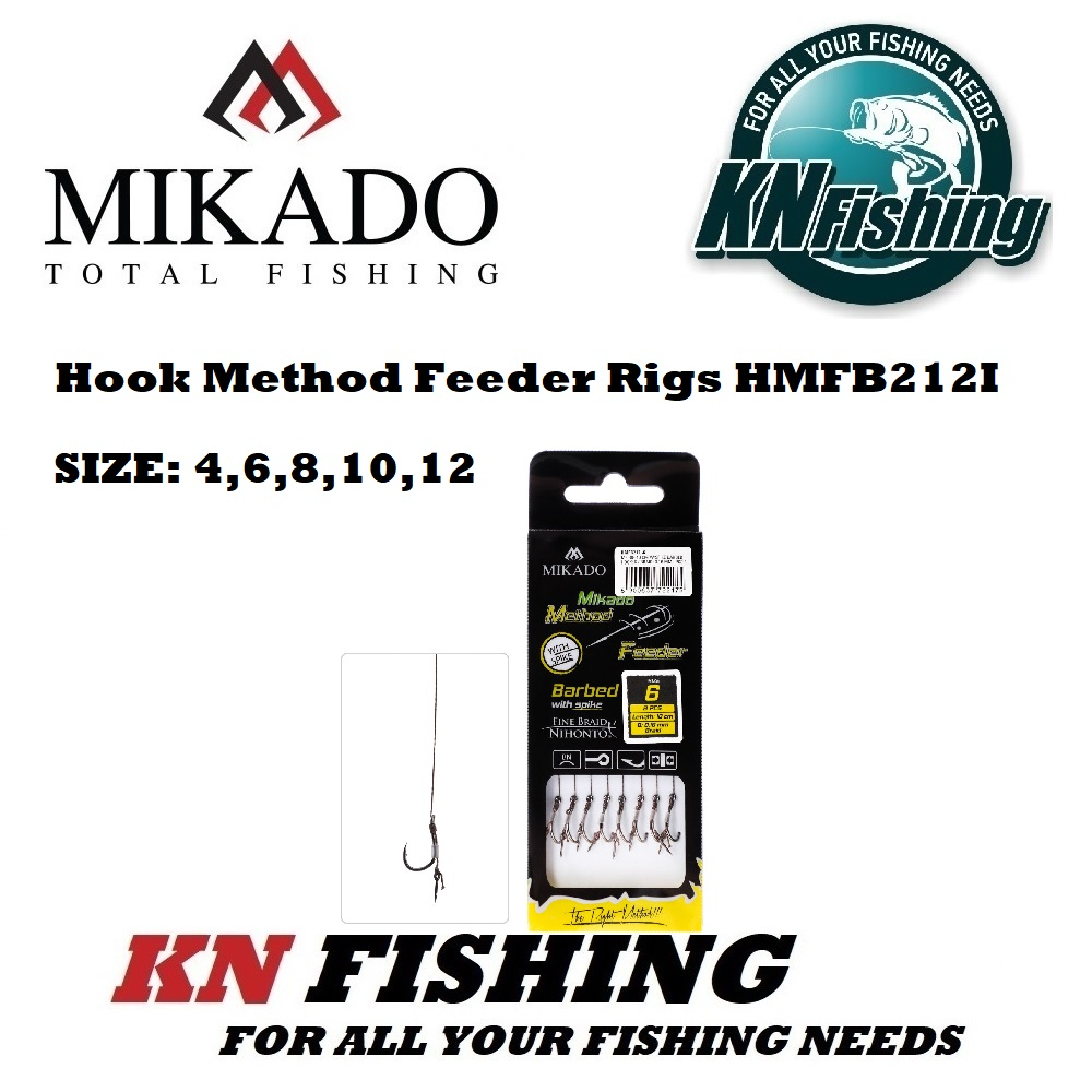 MIKADO HMFB212 METHOD FEEDER RIG 10 cm W/SPIKE BRAID PCS8