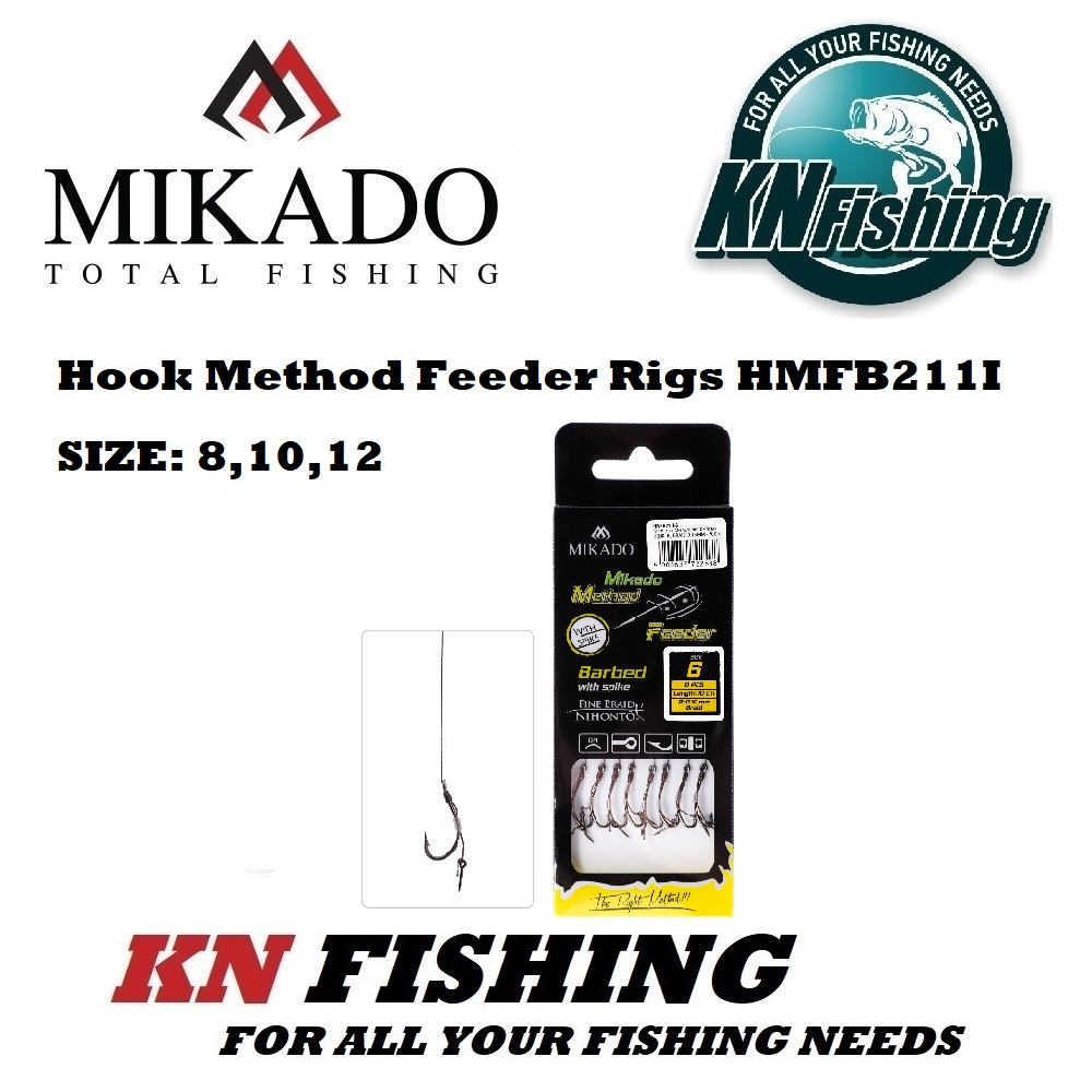 MIKADO HMFB211I METHOD FEEDER RIG 10 cm W/SPIKE PCS8 BRAID