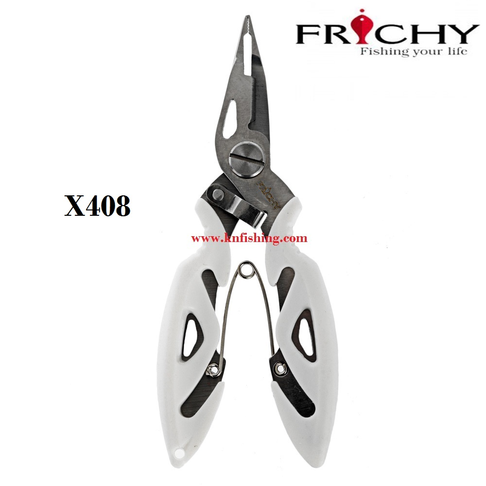 FRICHY X408 BRAID CUTTER SPLIT RING PLIERS 5IN STAINLESS STEEL PLIERS