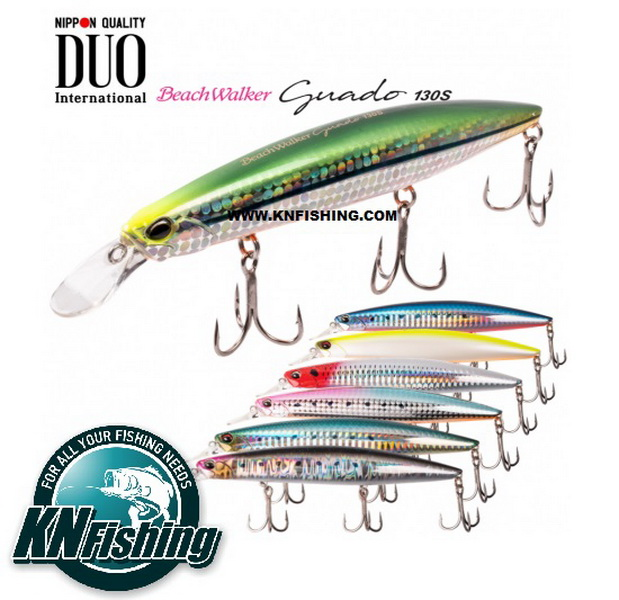 DUO BEACH WALKER GUADO 130 SINKING HARD FISHING LURES 24gr