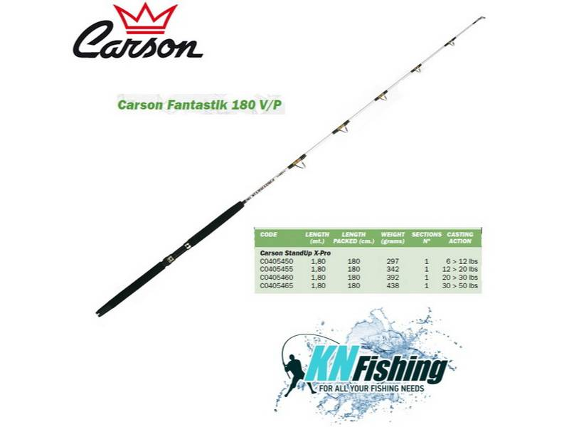 CARSON FANTASTIK 180V/P STAND UP RODS TROLLING ROD 1.80m 20-30lbs