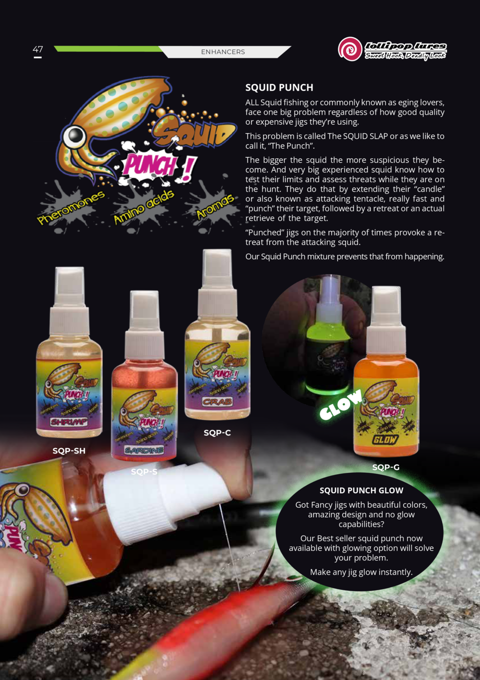 LOLLIPOP SQUID PUNCH FISH ATTRACTANT ALL SQUID FISHING