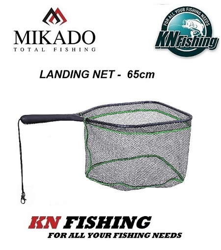 MIKADO LANDING NET 65cm HEAD 40/35cm MESH - DIAMETER 6mm