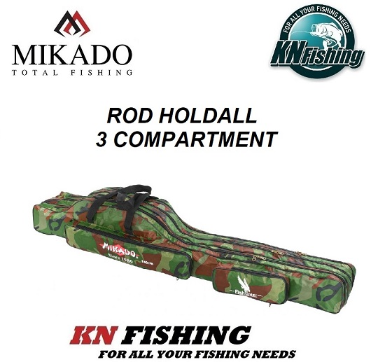 MIKADO ROD HOLDALL 3 COMPARTMENT CAMOUFLAGE 140cm - 160cm