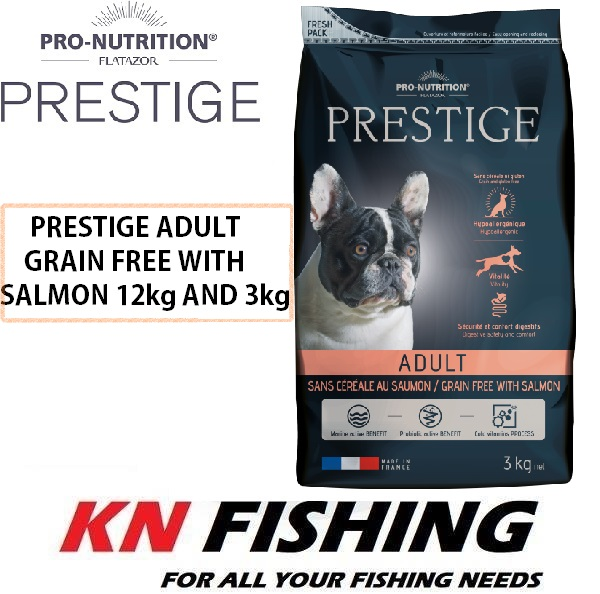 PRO-NUTRITION FLATAZOR PRESTIGE ADULT GRAIN FREE WITH SALMON DOG FOOD 12KG AND 3KG